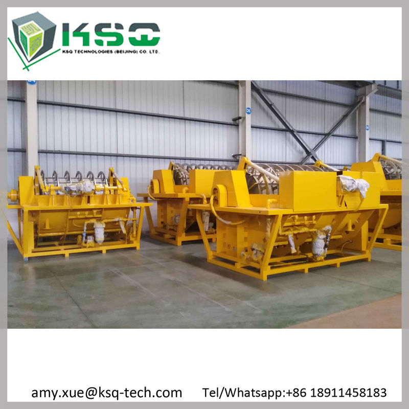 Yellow 60m3 Rotary Vacuum Filter For Mining Wastewater Dewatering