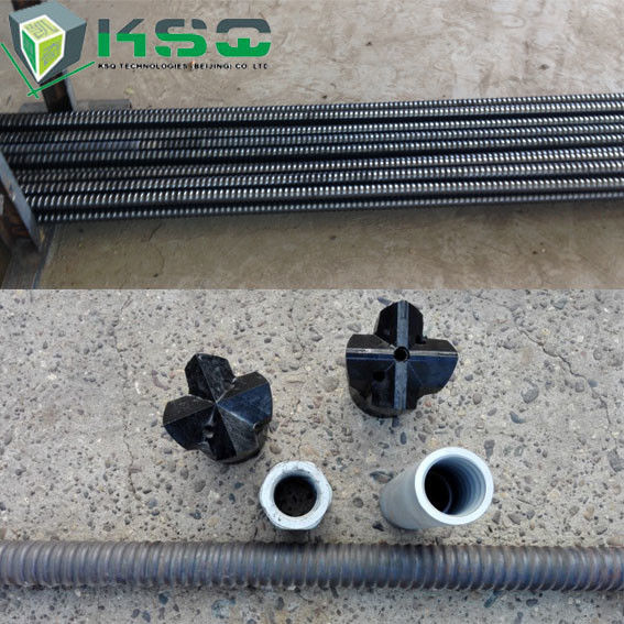 R25N Hollow Self Drilling Anchor Bolt For Slope / Foundation Pit ,  Zinc Galvanized Color