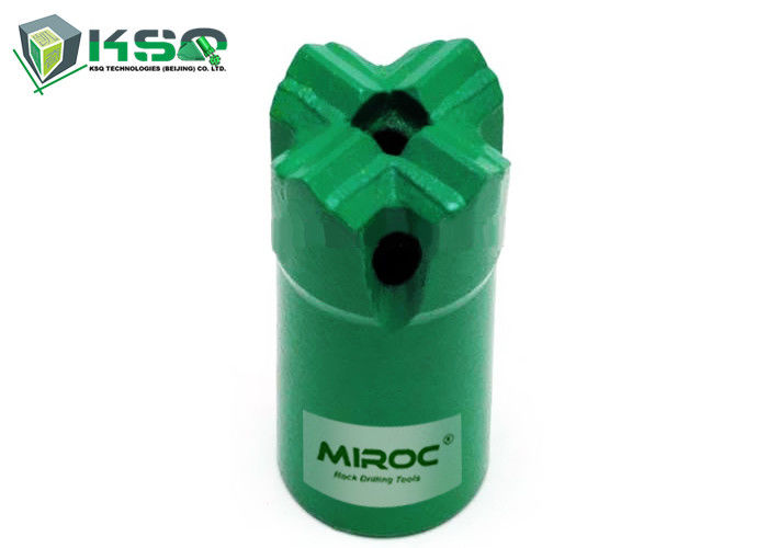 High grade steel Tapered Cross Drill Bit 7 Degree 32mm with tapered drill rod for drilling holes